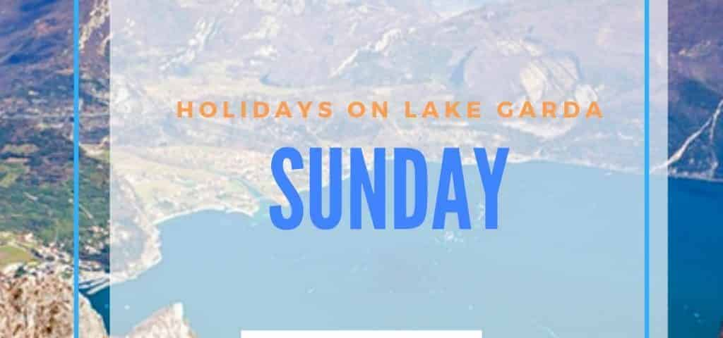 Travel on Sunday on Lake Garda